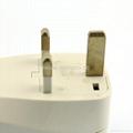 英式旅游转换器带USB充电(WASGFDBUvs-7-W)