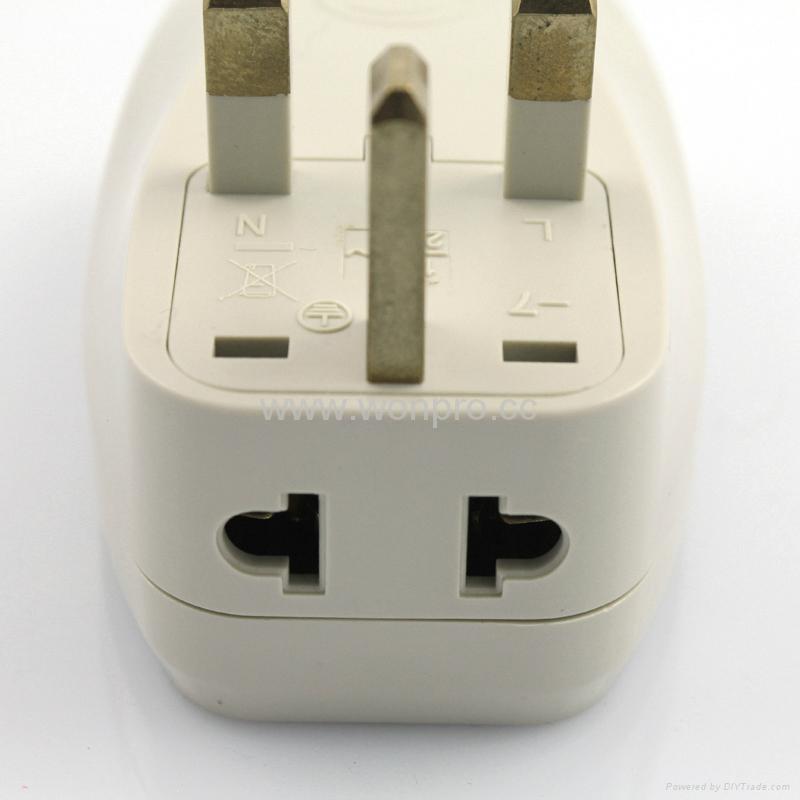 英式旅游转换器带USB充电(WASDBUvs-7-W) 3