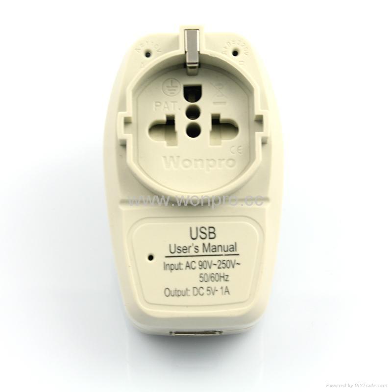 大南非欧洲通旅游转换器带USB充电(WASGFDBUvs-10L-W) 1