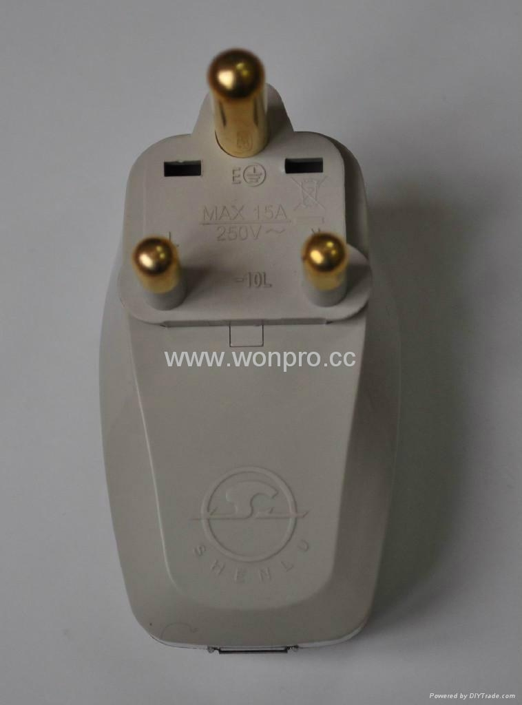 South Africa Travel Adapter with USB charger(WASGFDBU-10L-W) 5