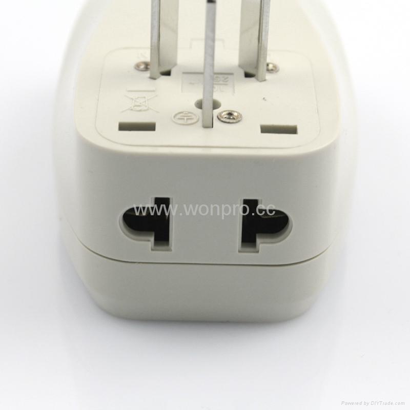 中国,澳洲式旅游转换器带USB充电(WASDBUvs-16-W) 3