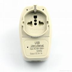 中国,澳洲式旅游转换器带USB充电(WASGFDBUvs-1