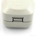中国,澳洲式旅游转换器带USB充电(WASGFDBU-16-W)
