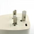 China, Australia Euro-Universal Travel Adapter with USB charger(WASGFDBU-16-W)  4