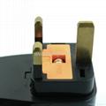 英式带保险丝旅游转换器带USB充电(WASDBU-7F-BK) 4