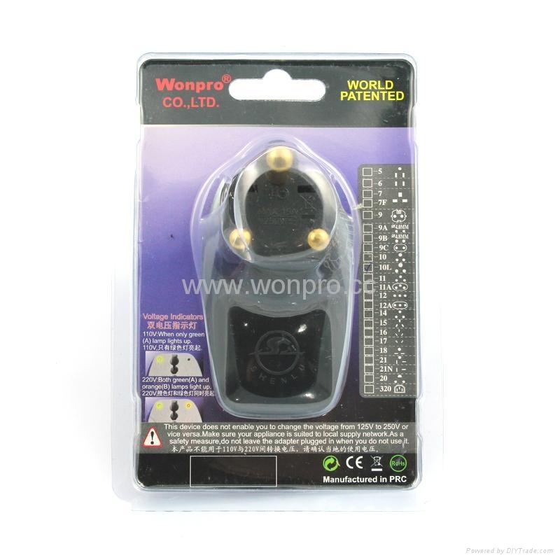 大南非式旅游转换器带USB充电(WASDBU-10L-BK) 2