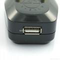 大南非式旅游转换器带USB充电(WASDBU-10L-BK) 3