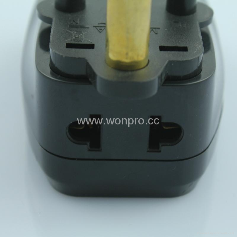 South Africa Universal Travel Adapter with USB charger(WASDBU-10L-BK) 4