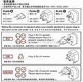 全球通旅游转换器组三件套(WUA-004-PP)