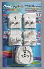 Euro type Universal Travel Adapter Kit(OASTGF-P4vs)