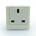 Inlay way Industrial1gang BS UK Socket-outlet w/screw 2P+E(BSF-R7T-W 16A or 20A)