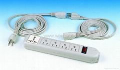 5 gang USA type  outlet extension power strip(WE5R4-IU105)