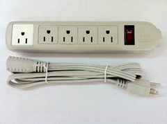 5 gang USA type  outlet extension power strip(WE5R5A-IU105)