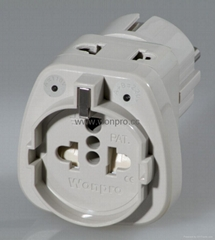EUROPEAN style universal adapter w/2-pin receptacle(WASGFDBvs Series)