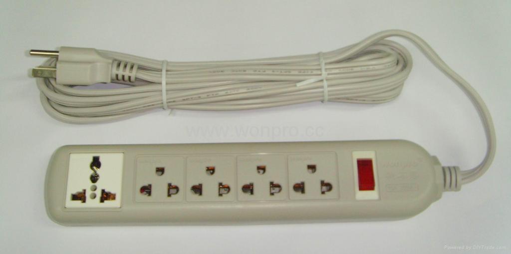 四位双用插座+一位万用插座固定式中间转换器(WE5BR4-D) 1