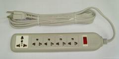 四位双用插座+一位万用插座固定式中间转换器(WE5BR4-D)
