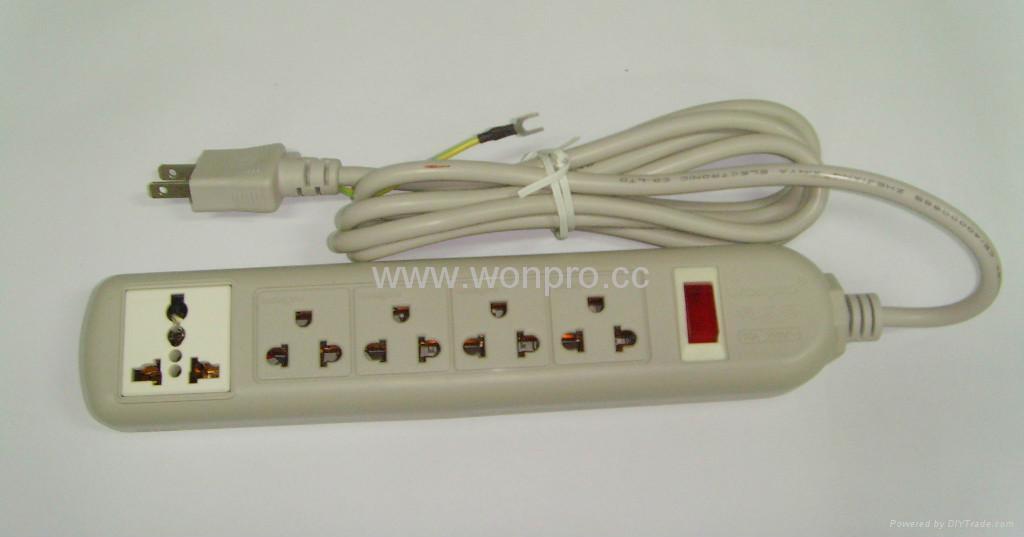 四位双用插座+一位万用插座固定式中间转换器(WE5BR4-D) 2