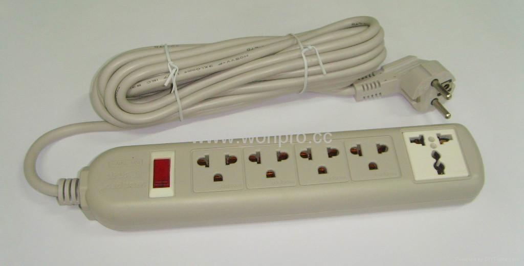 四位双用插座+一位万用插座固定式中间转换器(WE5BR4-D) 5