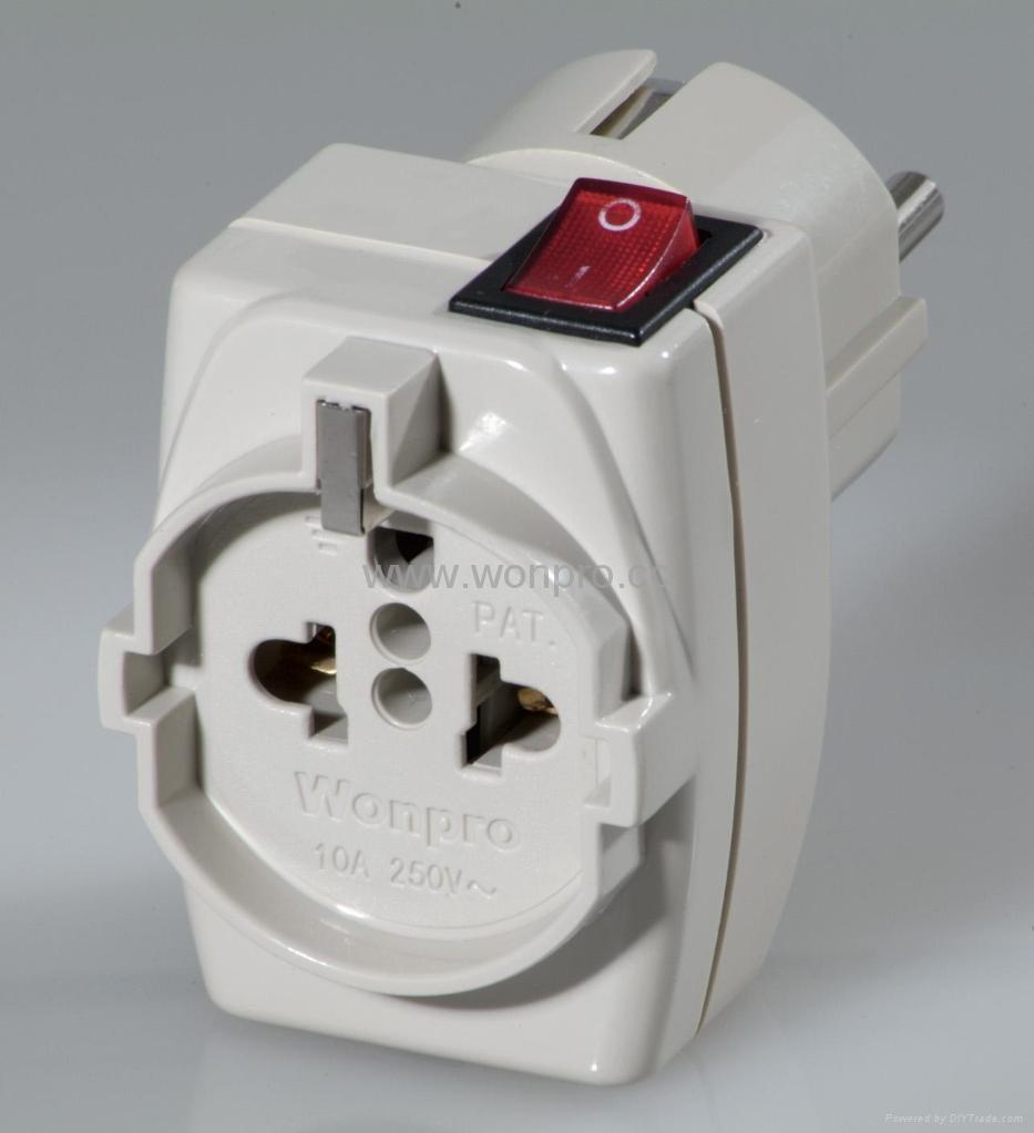 Wonpro European Style Multi Function Dual Adapter W Switchwsaiigf Rewiring A Plug To Us Series