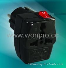萬用子母轉換器附有開關帶燈(WSAII系列)
