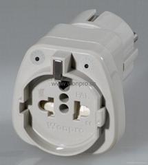 欧式万用安全旅游转换器附有双电压指示与突波吸收器(WASGFvs系列)