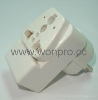 万用子母旅游转换器附有双电压指示与突波吸收器(WAIIvs系列) 5