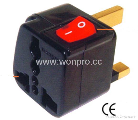Wonpro travel adapter w/switch series (socket plug)(WSA Series) 1