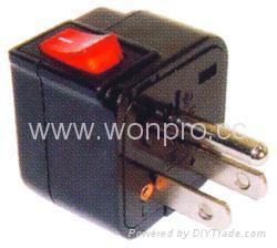 Wonpro travel adapter w/switch series (socket plug)(WSA Series) 2