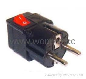 Wonpro travel adapter w/switch series (socket plug)(WSA Series) 4