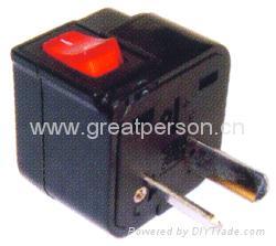 Wonpro travel adapter w/switch series (socket plug)(WSA Series) 5
