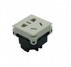 中國3C國標GB二三極組合插座帶保護門(R16BTNS-W)