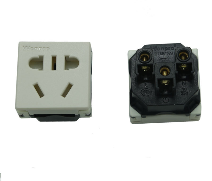 中国3C国标GB二三极组合插座带保护门(R16BTNS-W) 3