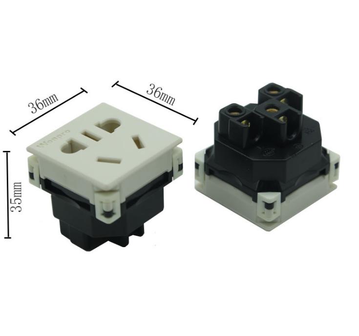 中国3C国标GB二三极组合插座带保护门(R16BTNS-W) 8