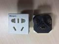中国3C国标GB二三极组合插座带保护门(R16BDS-W)