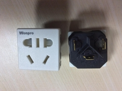 China 3C GB 2,3 pole Socket-outlet with saftety shutter(R16BDS-W)