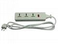 三位插座延长线带国标插头电源线无包装