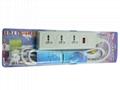 三位插座延长带国标插头电源线附真空罩彩卡包装