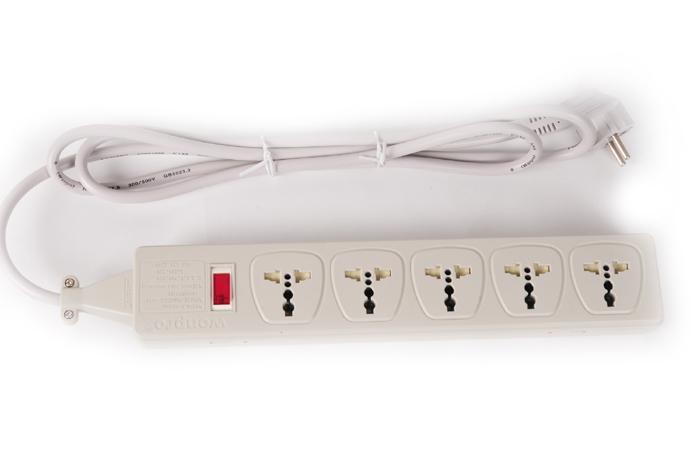 型号WES4.5-D109表示五位插座接德法式插头电源线