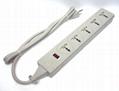 型号WES4.5-D105表示五位插座接美式插头电源线