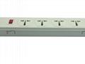 防雷型五位全球通安全插座延长线带IEC C14接口 排插 中间转换器