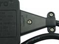 防雷型黑色三位万用插座带保护延长线组合 排插 中间转换器