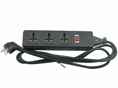 3 gang Universal socket extension Power strip