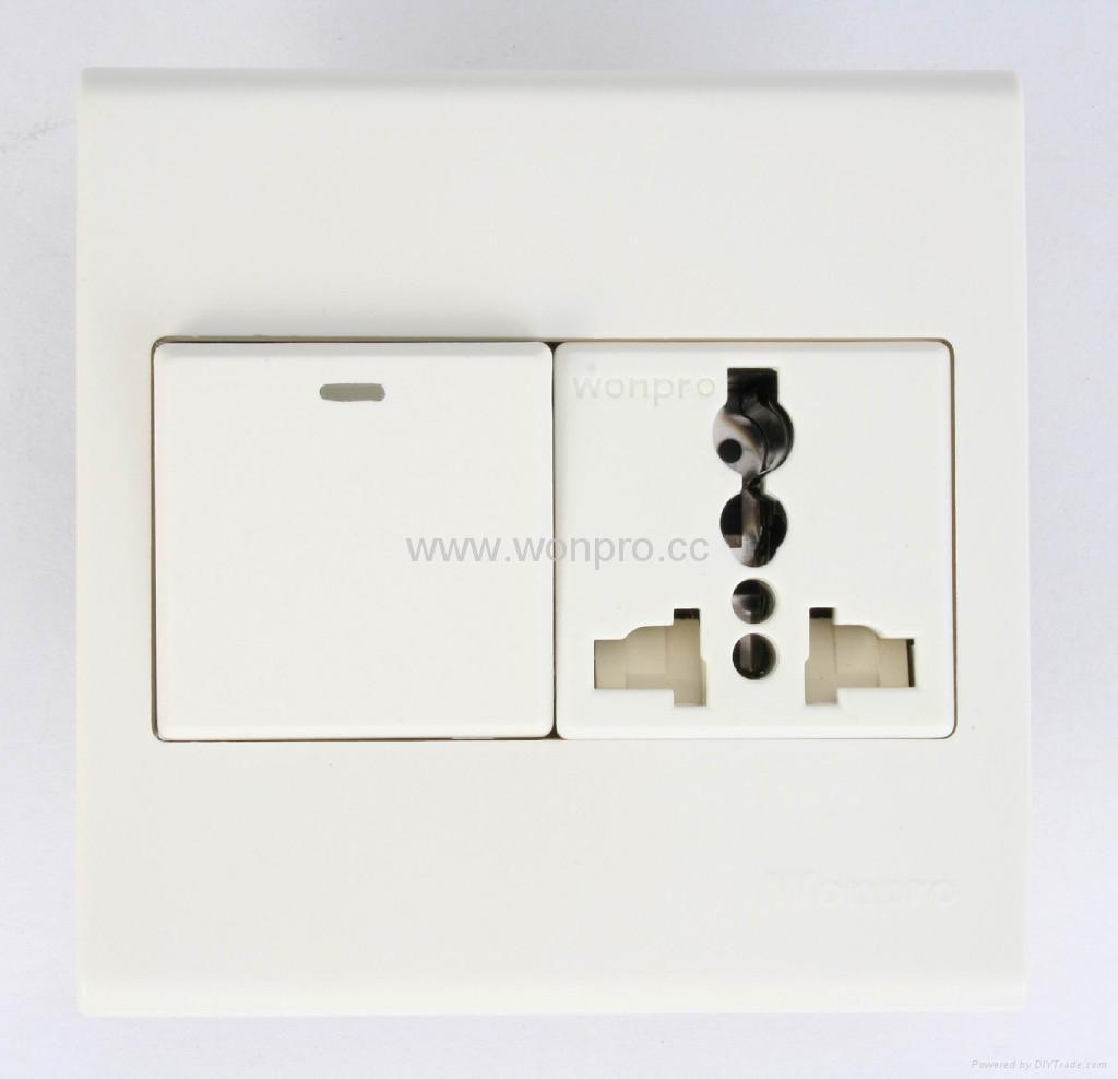 WF86CN Switches+Universal socket series 1