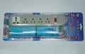 防雷型四位美标插座+1位多用插座转换器(WE5R4-IU105)