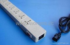 防雷万用插座带保护延长线(排插, 中间转换器)