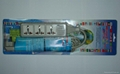 防雷型三位万用安全插座/+L型插座带夜光指示灯转换器(排插)