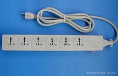 防雷型万用插座带保护延长线组合(排插, 中间转换器)