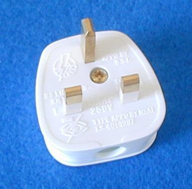 英标二极带接地自配线插头(WSP-7) 2