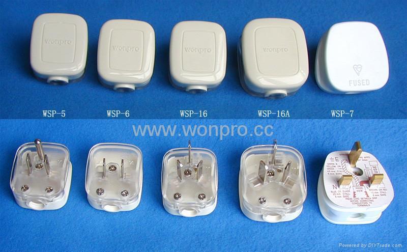 英标二极带接地自配线插头(WSP-7) 4