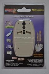 國別旅遊轉換器帶USB充電(WASDBUvs系列)